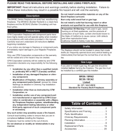 majestic appliances bc42 user manual page 2 24 also for br42 br36 bc36 [ 954 x 1235 Pixel ]