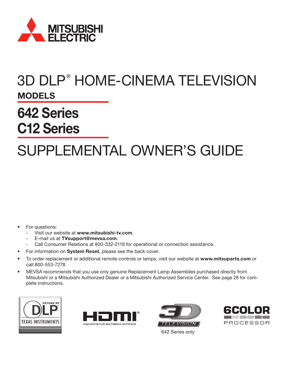 hight resolution of mitsubishi electric wd 73642 user manual 46 pages also for wd