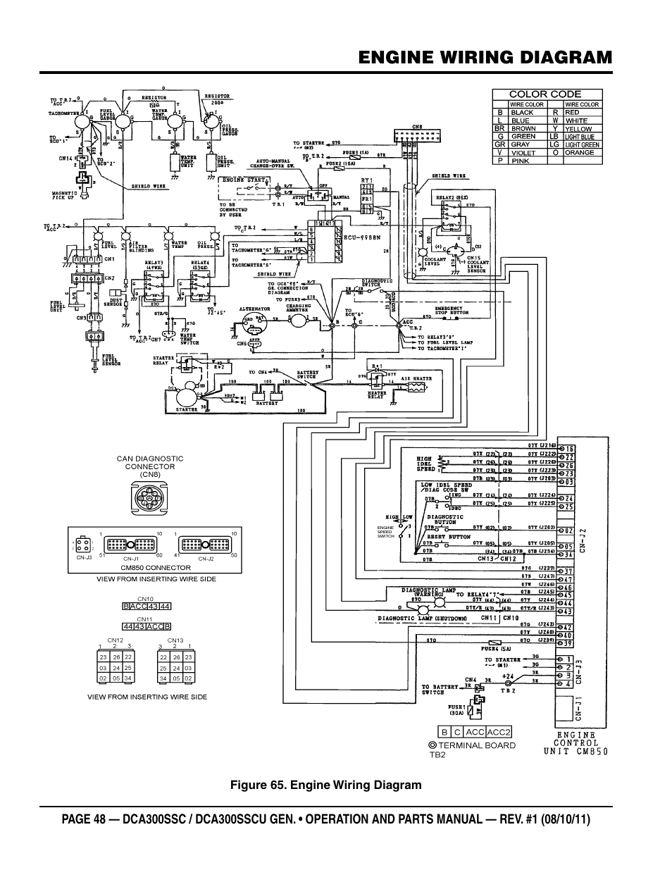 wiring diagram diesel engine