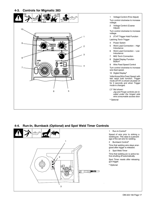 small resolution of 3 controls for migmatic 383 miller electric 383 user manual page 21 48