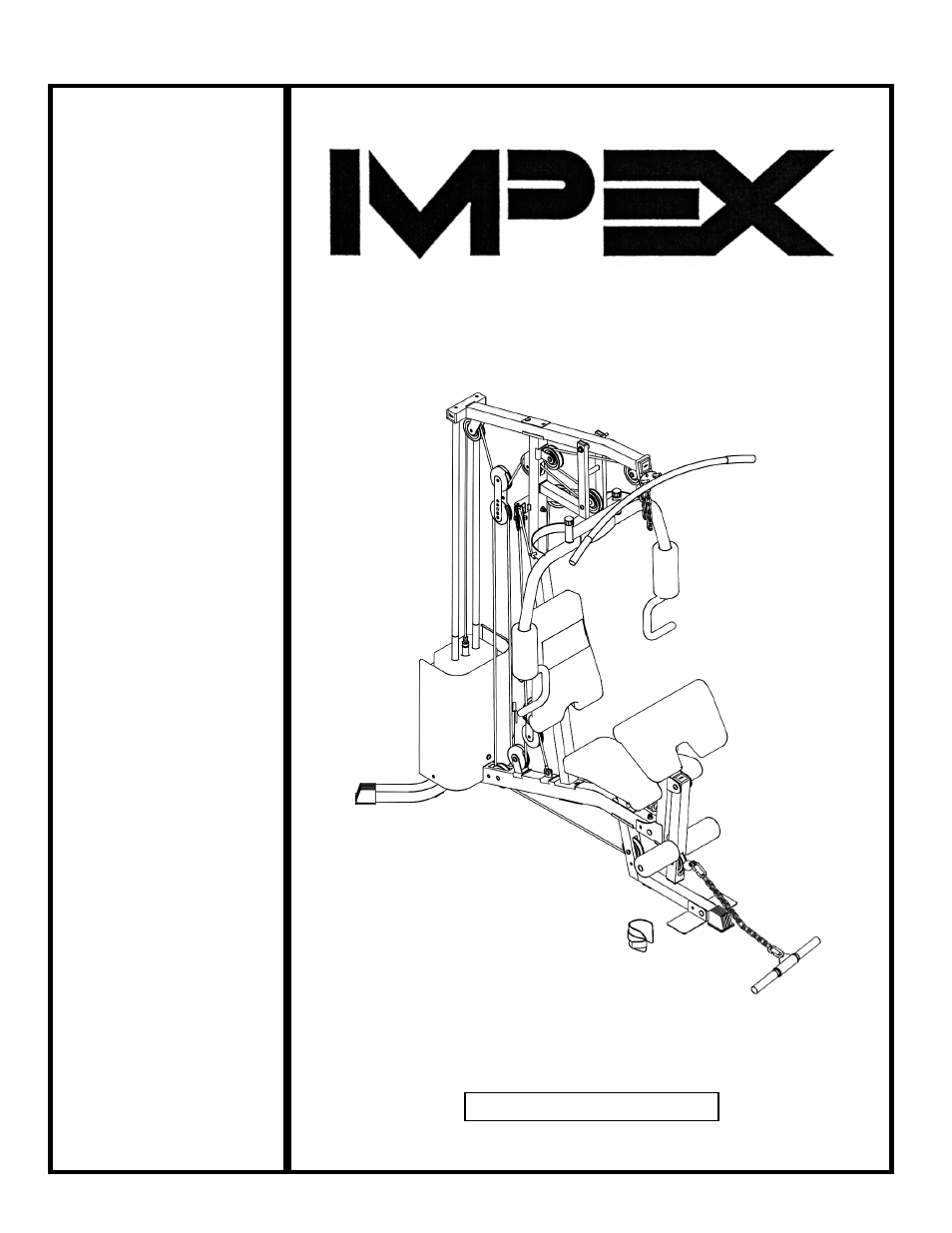 Impex Competitor Home Gym Exercise Chart