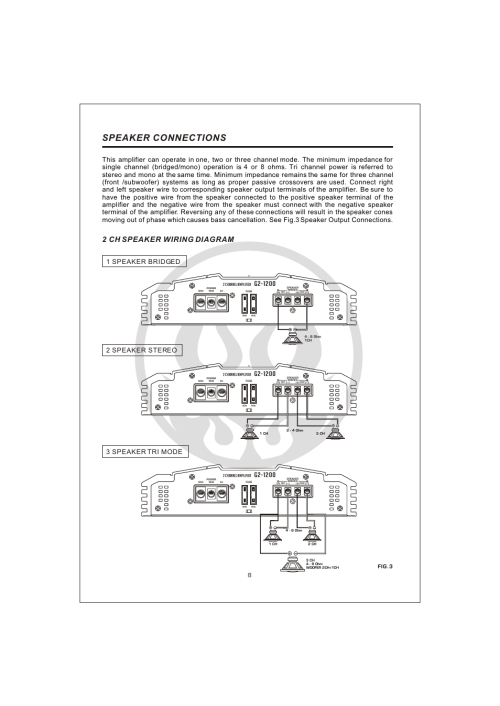 small resolution of  10 speaker connections 2 ch speaker wiring diagram interfire audio g2