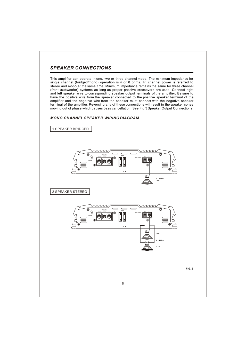 medium resolution of  10 speaker connections mono channel speaker wiring diagram interfire audio tunn t 2130 user manual page 10 20