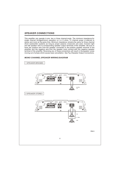 small resolution of  10 speaker connections mono channel speaker wiring diagram interfire audio tunn t 2130 user manual page 10 20