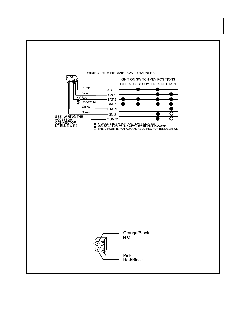 hight resolution of 6 pin 12 volt wire harnes