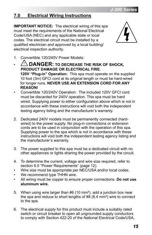 small resolution of 0 electrical wiring instructions danger jacuzzi j 375 user manual page 19 60