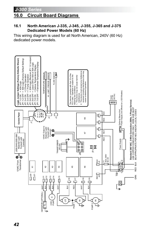 jacuzzi j 345 wiring diagram john deere 1020 0 circuit board diagrams dedicated power models 60 hz 375 user manual page 46