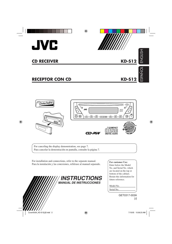 hight resolution of jvc kd s12 user manual 34 pages rh manualsdir com jvc car radio jvc kd sr40 wiring diagram