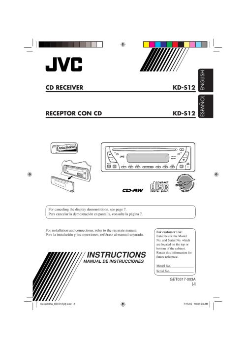 small resolution of jvc kd s12 user manual 34 pages rh manualsdir com jvc car radio jvc kd sr40 wiring diagram