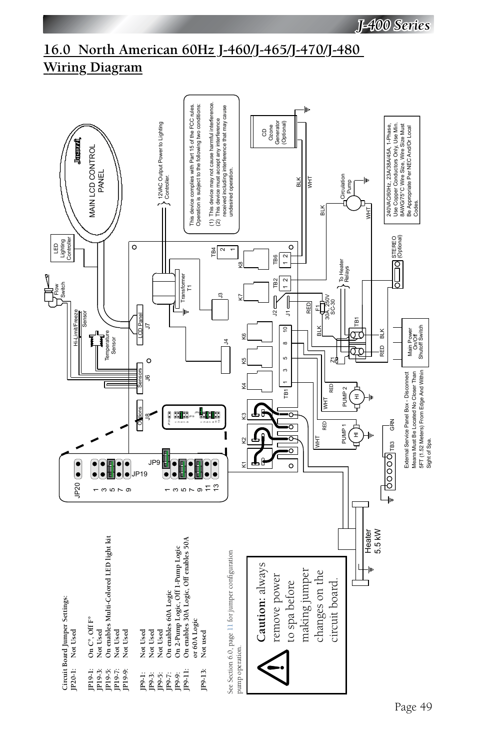 jacuzzi light wiring diagram wire center u2022 rh spaculus co Spa Wiring Schematic Wiring for 220 Spa