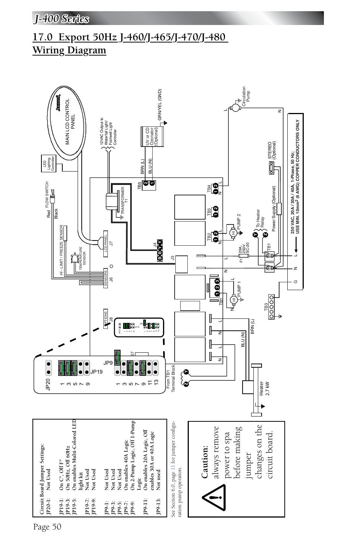limit switch wiring diagram phone socket australia export 50hz j-460/j-465/j-470/j-480 diagram, page 50 | jacuzzi j - 480 user manual ...