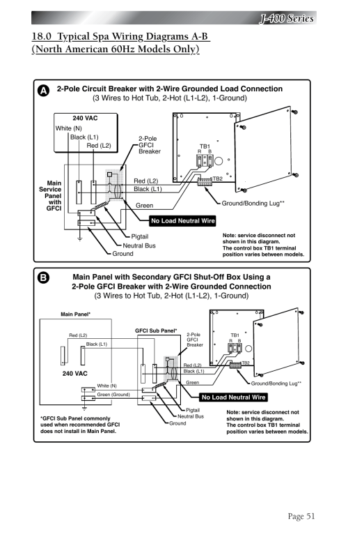 small resolution of j 400 series page 51 jacuzzi j 480 user manual page 55 70