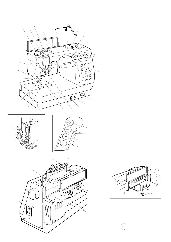 Janome Sewing Machine Parts Diagram