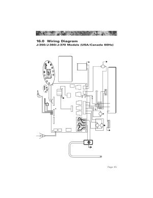 0 wiring diagram (60hz j350j360j370 models), 0 wiring
