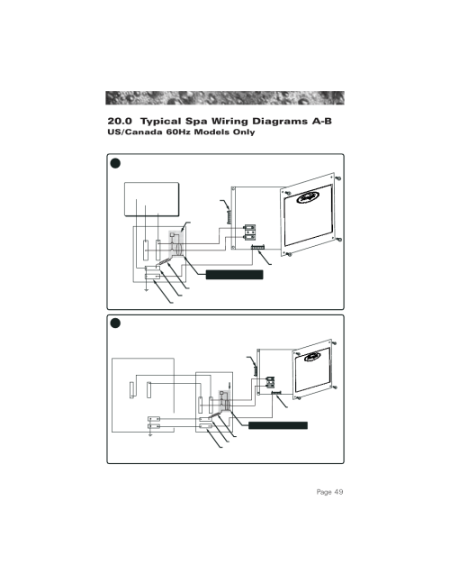 small resolution of 0 typical spa wiring diagrams a b 60hz models 0 typical spa mix 0