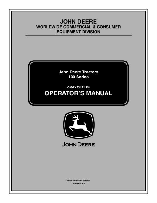small resolution of  john deere la105 page1 deere la115 owners manual 100 images deere la115 lawn tractor light switch