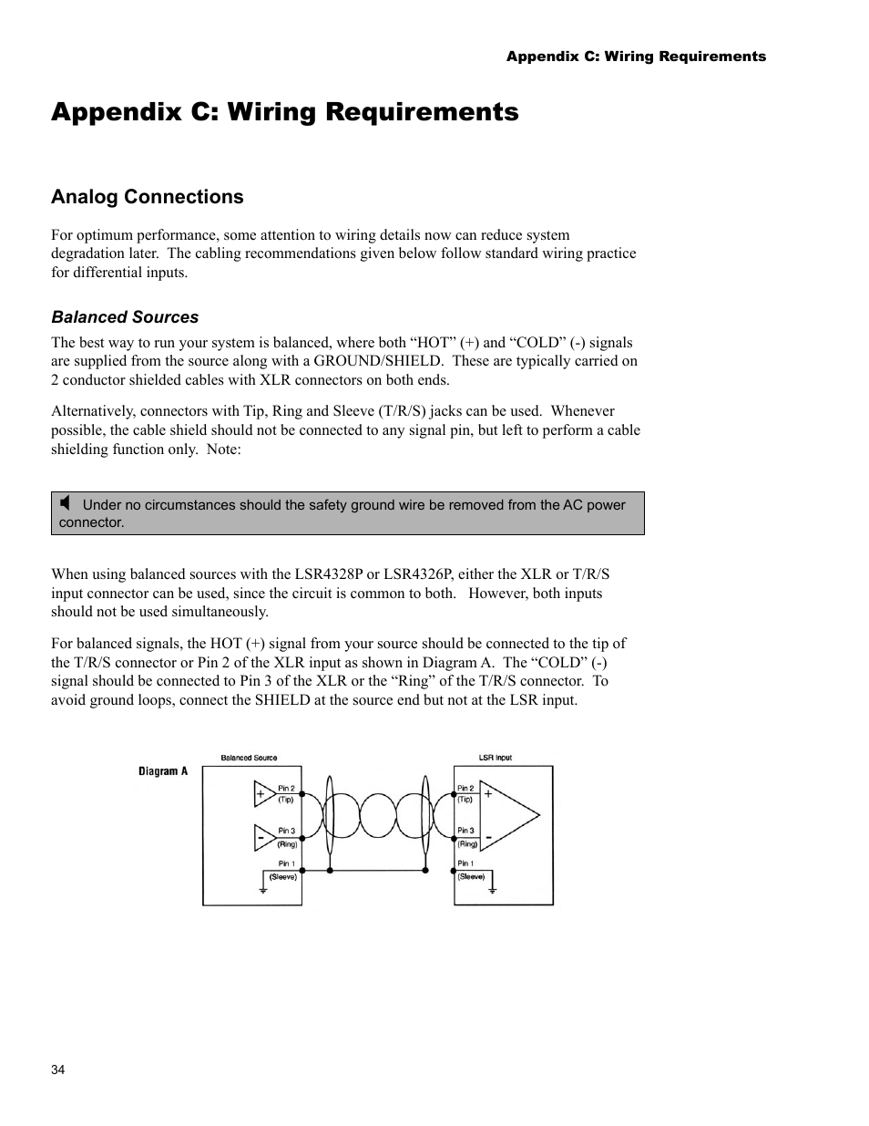 medium resolution of appendix c wiring requirements jbl lsr4326p user manual page 38 51