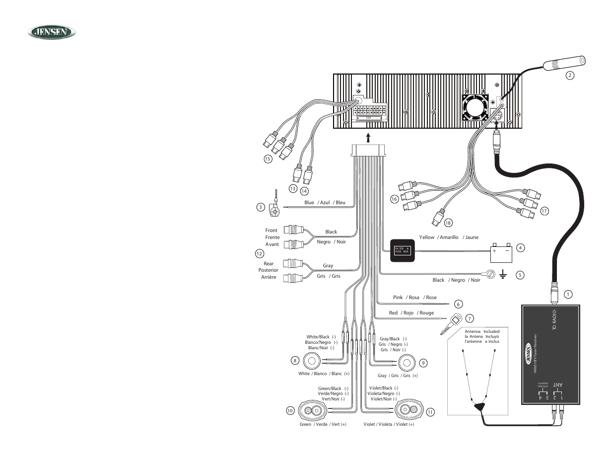 Jensen Vm9510 Wiring Harness Diagram : 36 Wiring Diagram