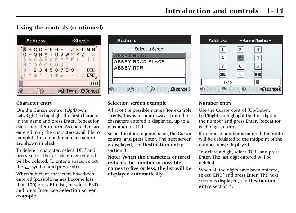 Introduction and controls 1-11, Using the controls