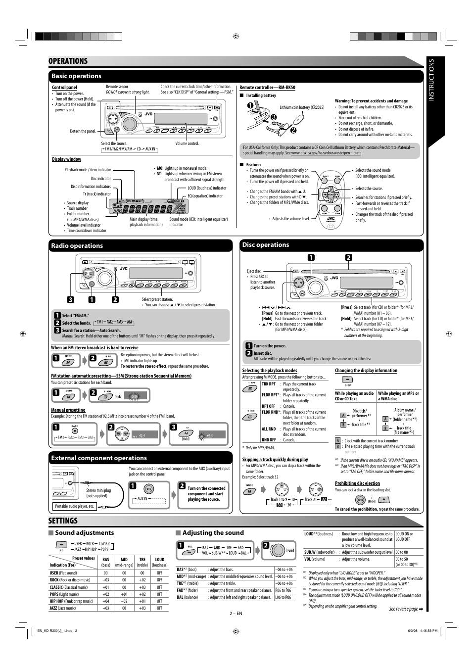 JVC KD R200 MANUAL PDF DOWNLOAD