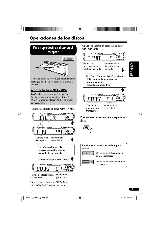 Operaciones de los discos, Para reproducir un disco en el