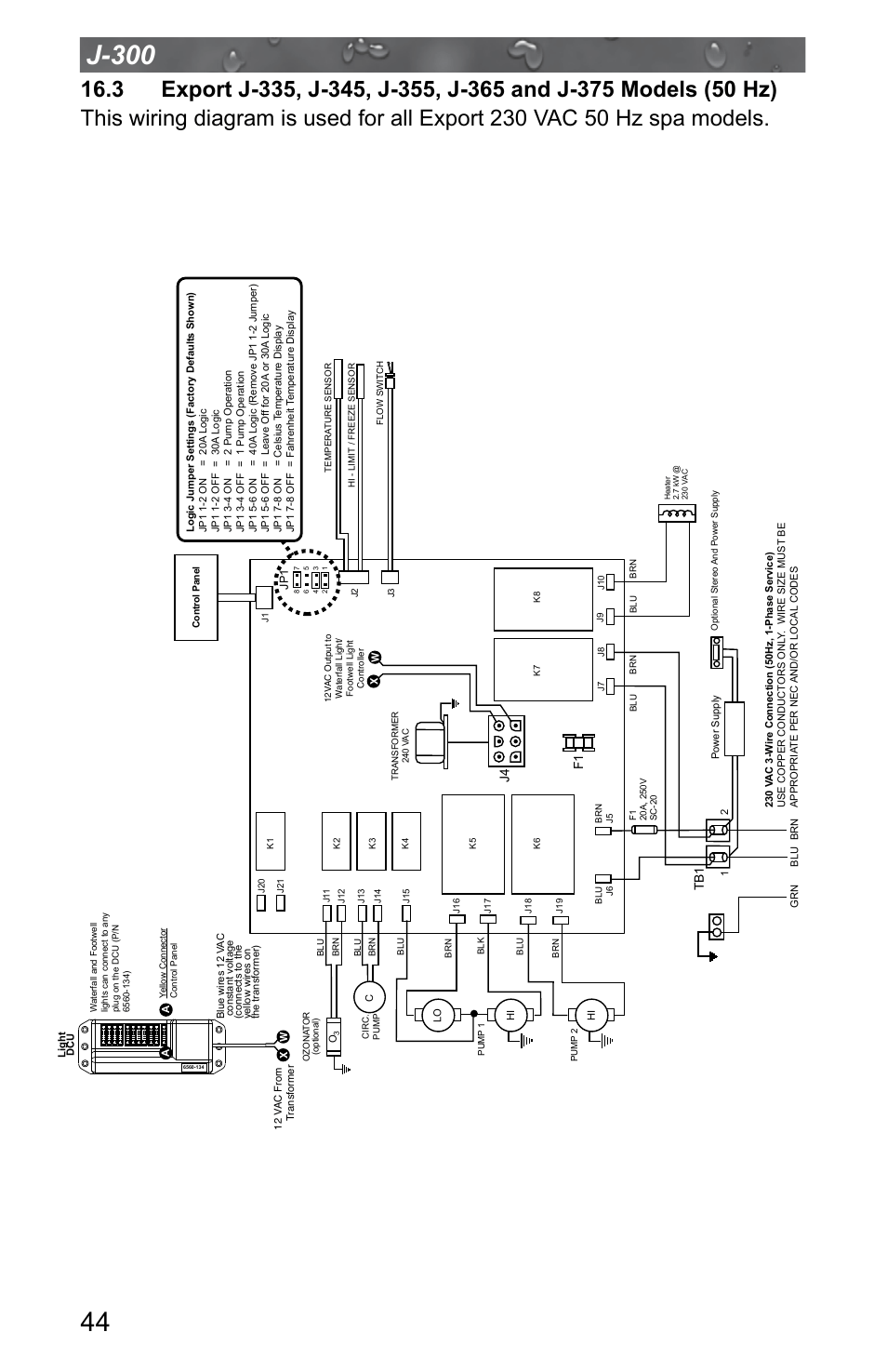 Stereo Wire Diagram Jacuzzi J 315 User Manual Page 48 64 Also For J