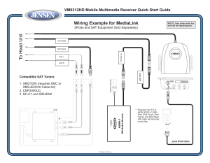 Wiring example for medialink, Ipods and sat equipment sold separately)   Jensen VM9312HD User