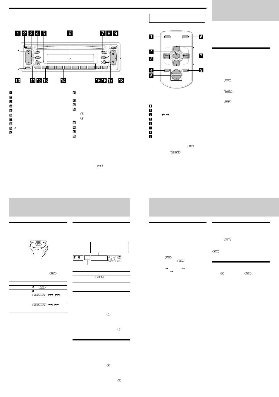 sony cdx l350 wiring diagram isuzu kb 300 radio cd player other functions user manual page 3 4