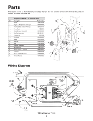Parts, Wiring diagram | Sears 20071231 User Manual | Page 4  14
