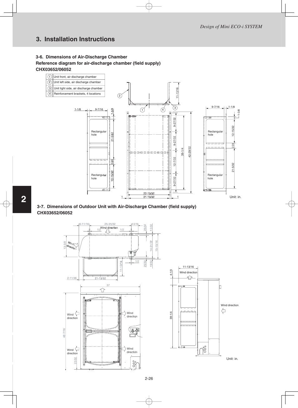Installation instructions, Design of mini eco-i system