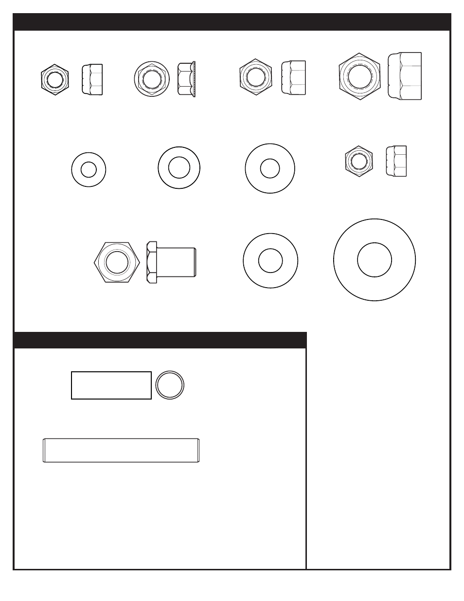 Hardware identifier (nuts & washers), Hardware identifier