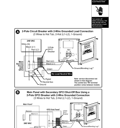 0 typical hot tub wiring diagrams a b north american 60 hz models only danger sundance spas altamar 880 user manual page 75 92 [ 954 x 1475 Pixel ]