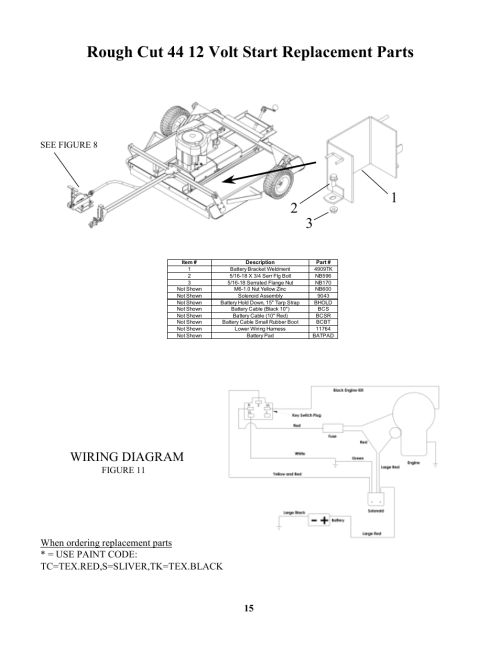 small resolution of rough cut 44 12 volt start replacement parts wiring diagram seerough cut 44 12