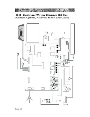 0 electrical wiring diagram (60 hz), Page 42   Sundance