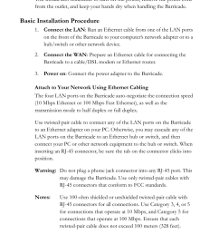 basic installation procedure smc networks smc barricade smc7004vbr user manual page 24 122 [ 954 x 1388 Pixel ]
