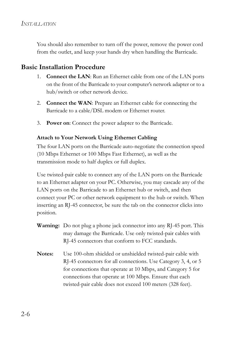 medium resolution of basic installation procedure smc networks smc barricade smc7004vbr user manual page 24 122