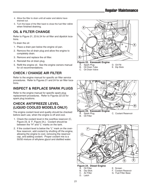 small resolution of regular maintenance oil filter change check change air filter simplicity 1693130 user manual page 25 42