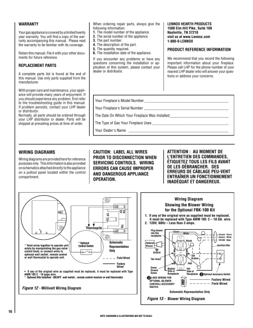 small resolution of wiring diagrams superior direct vent gas fireplaces sdv35 user manual page 16 28