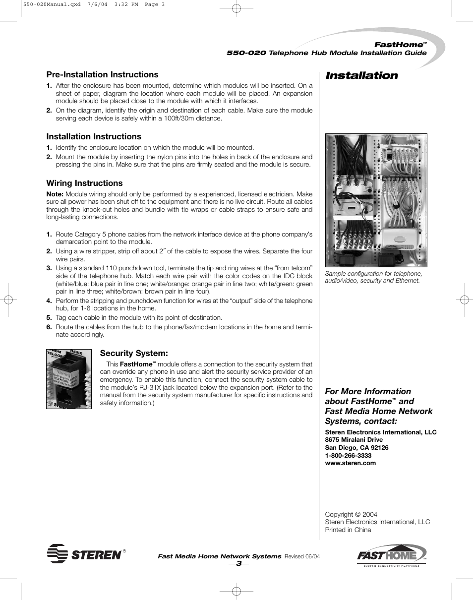 hight resolution of installation pre installation instructions installation instructions wiring instructions security system