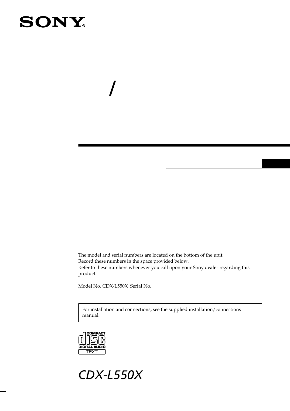 hight resolution of sony cdx l550x en user manual 24 pages also for cdx l550x cdx l550fp