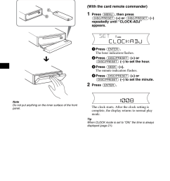 setting the clock sony cdx f5700 user manual page 10 92sony cdx f5700 wiring diagram  [ 954 x 1352 Pixel ]
