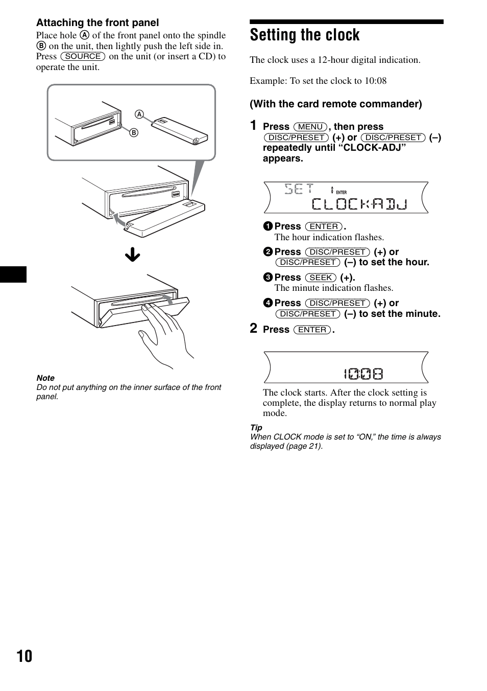 hight resolution of setting the clock sony cdx f5700 user manual page 10 92sony cdx f5700 wiring diagram