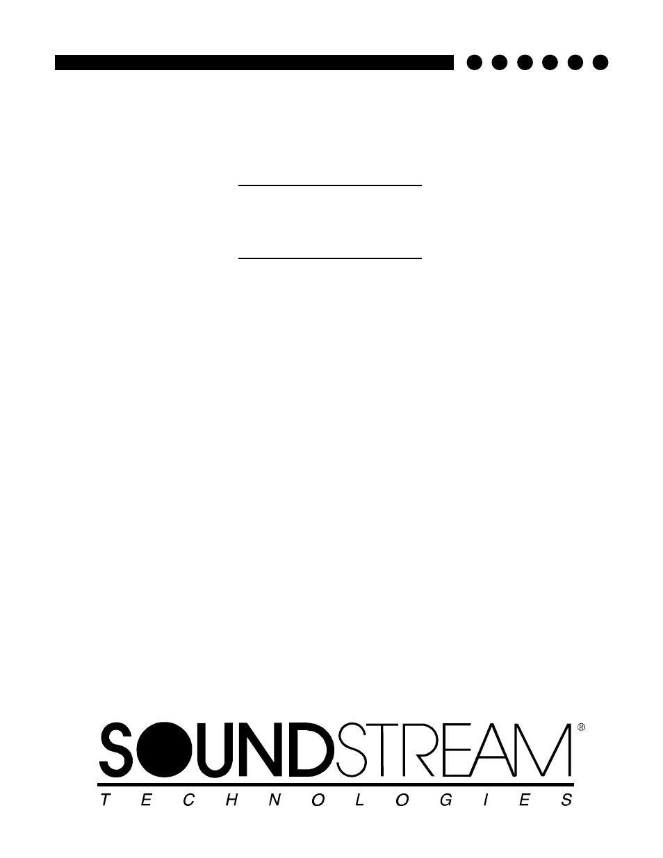 Soundstream Technologies PICASSO Stereo Amplifier User