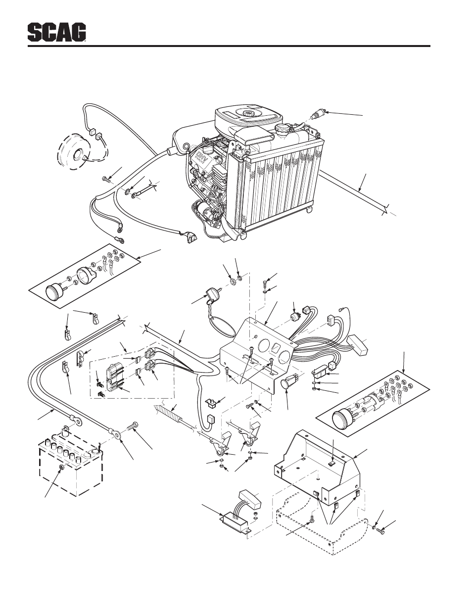 hight resolution of electrical system 27hp kawasaki scag power equipment turf tiger stt52v 27ch user manual page 81 138