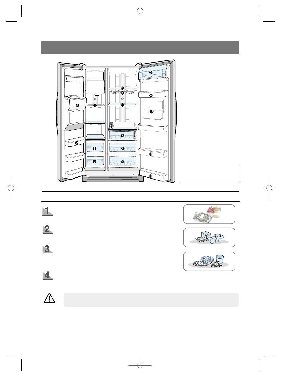 Food storage guide, Frozen food storage in freezer