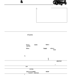 troubleshooting adjustment service troubleshooting troubleshooting the tractor simplicity 14hp user manual page 28 50 [ 954 x 1235 Pixel ]