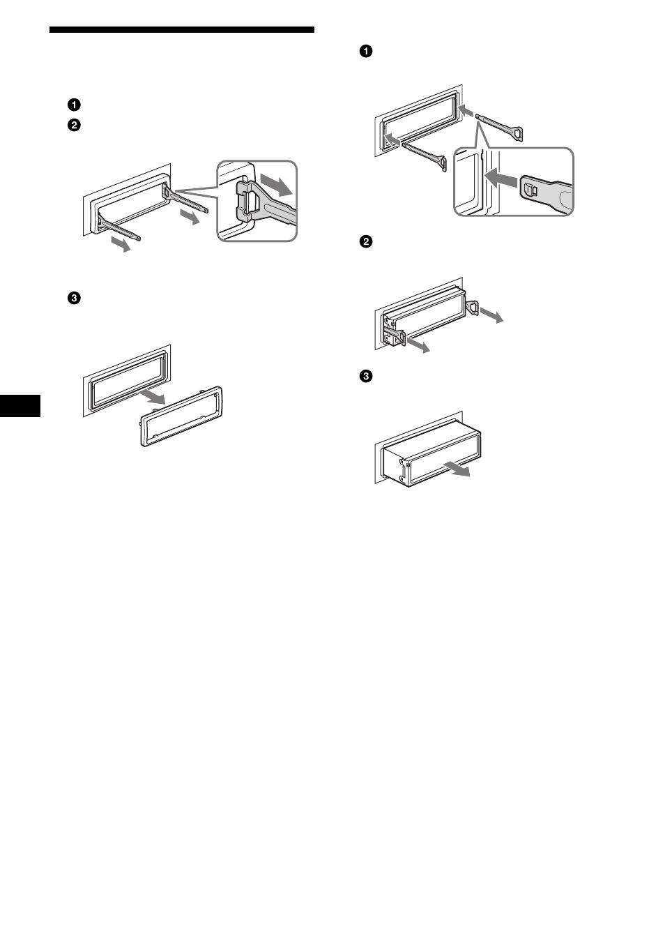medium resolution of extracci n de la unidad 26 extracci n de la unidad sony cdx fw700 user