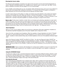 connecting the resound speaker system samson rs12 user manual page 7 16 [ 954 x 1235 Pixel ]