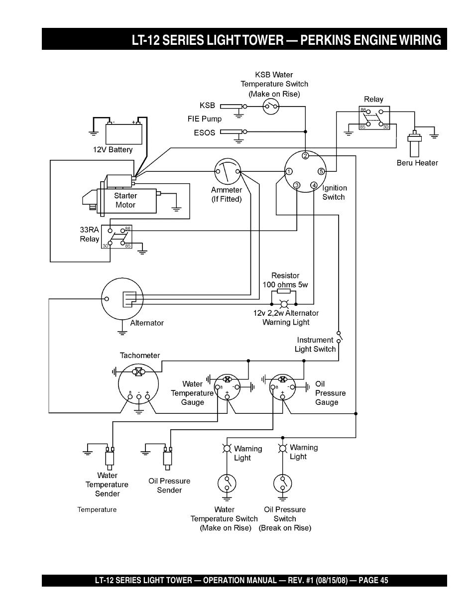 medium resolution of lt 12 series light tower perkins engine wiring stow nighthawk dedicated light tower