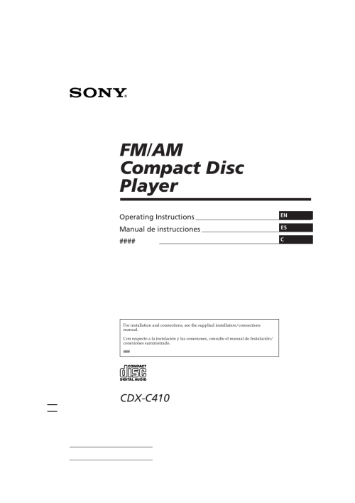 small resolution of sony cdx c410 user manual 43 pagessony cdx c410 wiring diagram 9